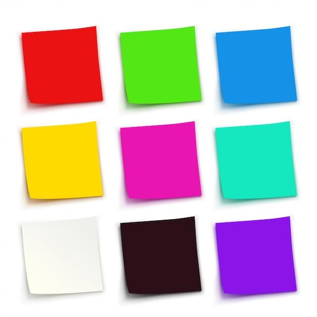 Zestaw Kolorowych Papierów Premium Wektorów