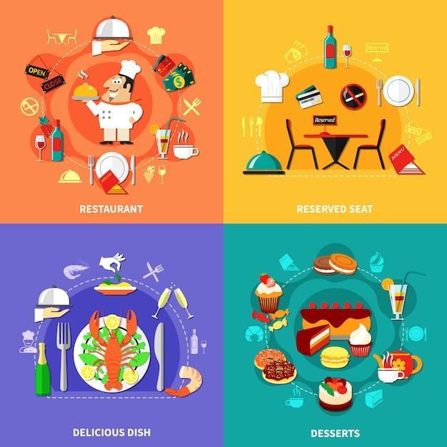 Zestaw kompotów kulinarnych Darmowych Wektorów