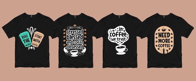 Zestaw Koszulek Do Kawy Premium Wektorów