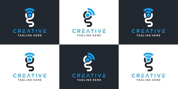 Zestaw Kreatywnych Abstrakcyjnych Monogramów Litera G I Inspiracji Do Projektowania Logo Sygnału Premium Wektorów
