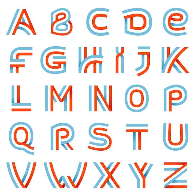 Zestaw Liter Alfabetu. Premium Wektorów