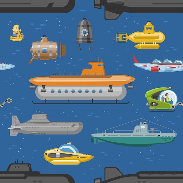 Zestaw łodzi Morskich Lub żaglówek Morskich Premium Wektorów