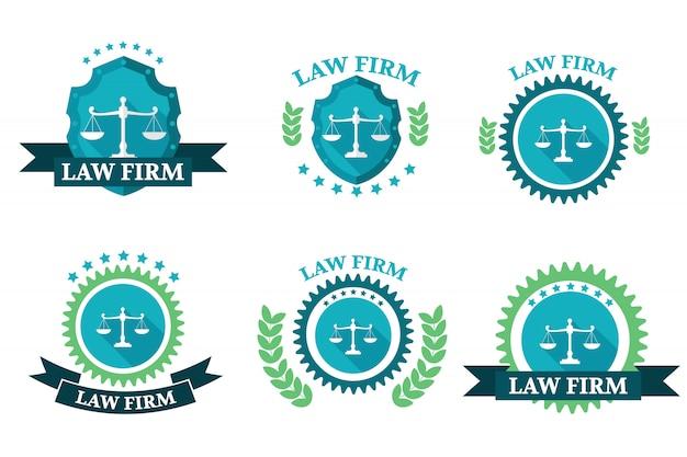 Zestaw Logo Kancelarii Premium Wektorów