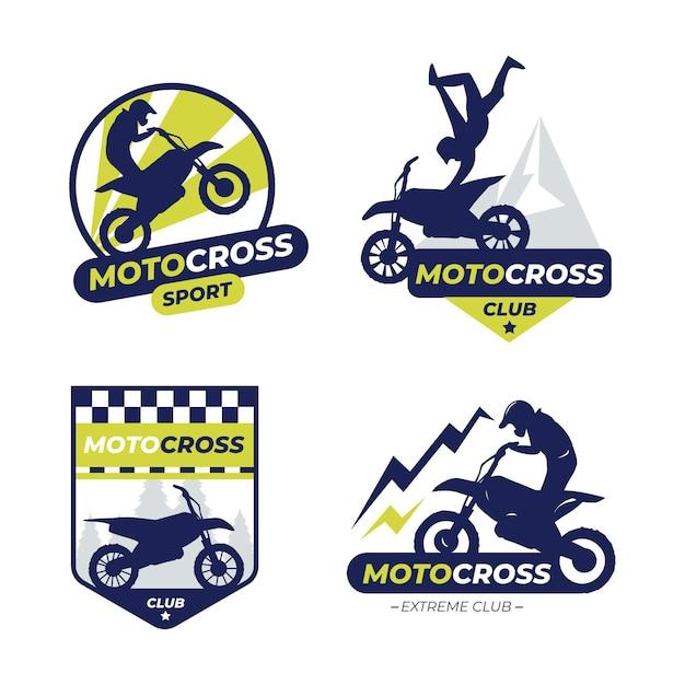 Zestaw Logo Motocross Premium Wektorów