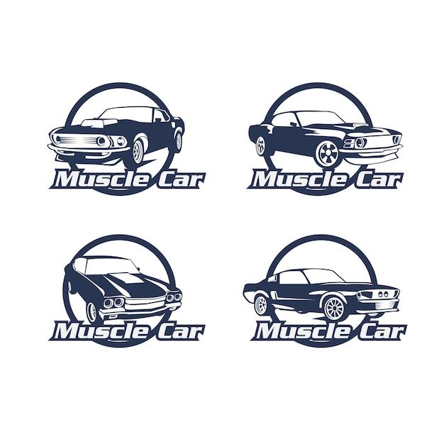 Zestaw logo samochodu Premium Wektorów
