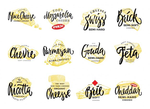 Zestaw Logo żywności Ekologicznej Darmowych Wektorów
