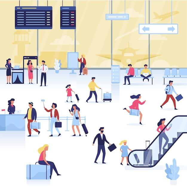 Zestaw Lotniskowy. Ręka Trzyma Paszport I Bilet Premium Wektorów