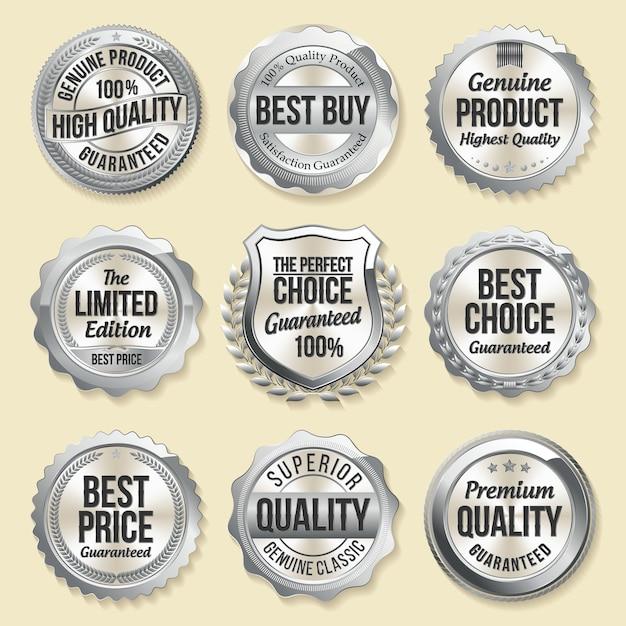 Zestaw Luksusowych Odznak Detalicznych Premium Wektorów