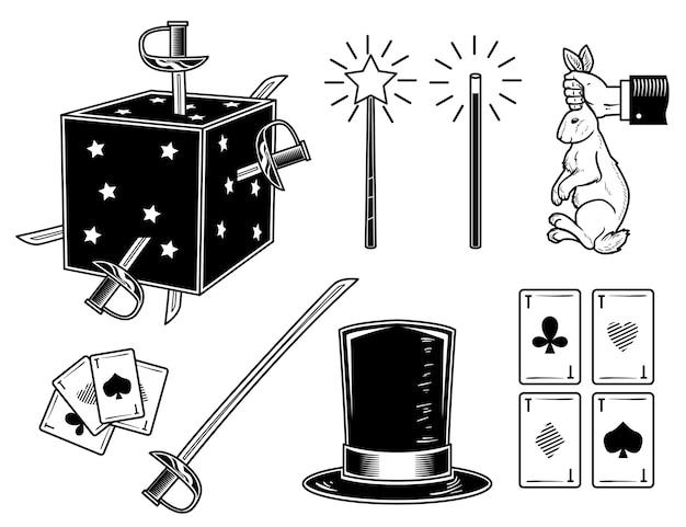 Zestaw Magicznych Elementów Premium Wektorów