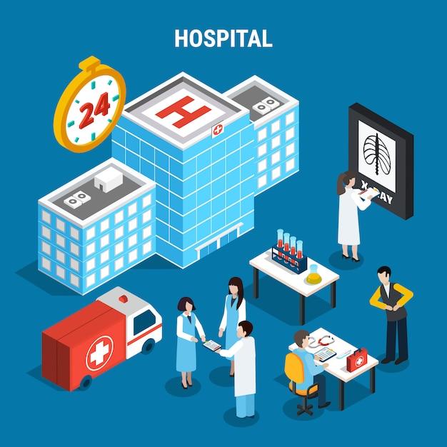 Zestaw Medyczny Izometryczny Darmowych Wektorów