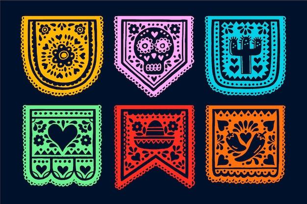 Zestaw Meksykański Trznadel Darmowych Wektorów