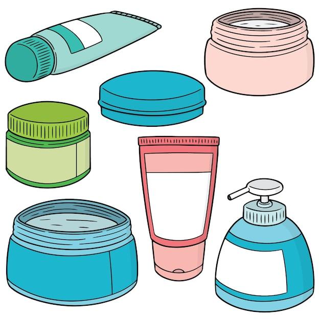 Zestaw Miejscowych Kosmetyków I Typowych Leków Premium Wektorów