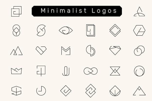 Zestaw Minimalnych Wzorów Logo Darmowych Wektorów