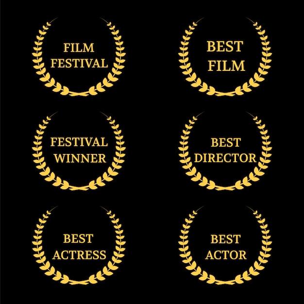 Zestaw Nagród Filmowych Wektorowych Premium Wektorów