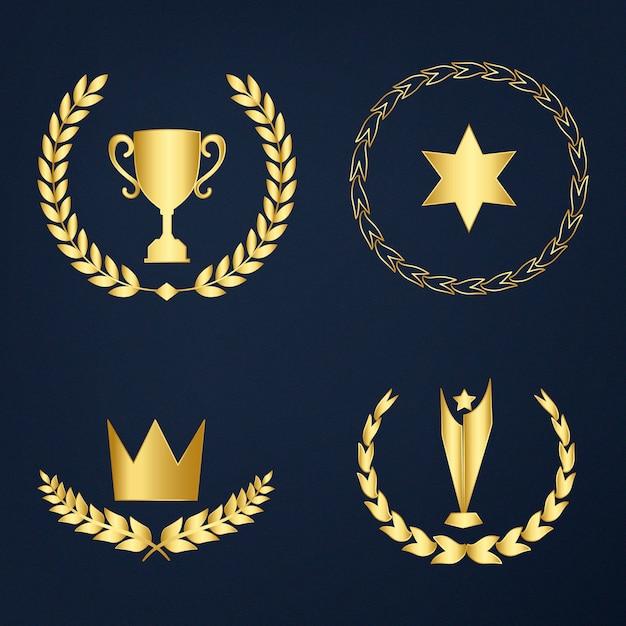 Zestaw nagród i odznaki wektor Darmowych Wektorów