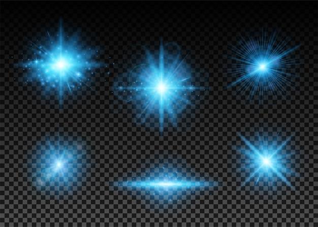 Zestaw Niebieskich świateł Darmowych Wektorów