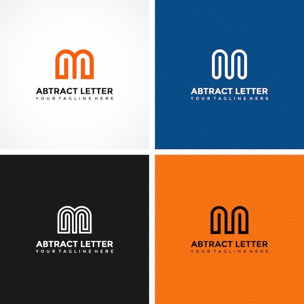 Zestaw nowoczesnych szablonów projektu logo Premium Wektorów