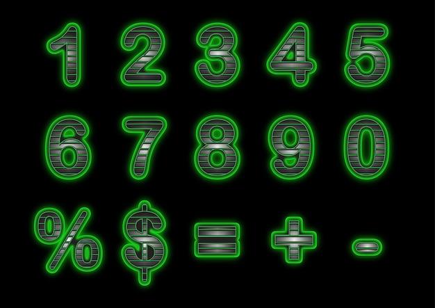 Zestaw Numerów Green Grip Premium Wektorów