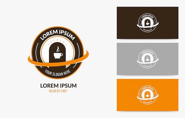 Zestaw odznak logo kawiarni kawy Premium Wektorów