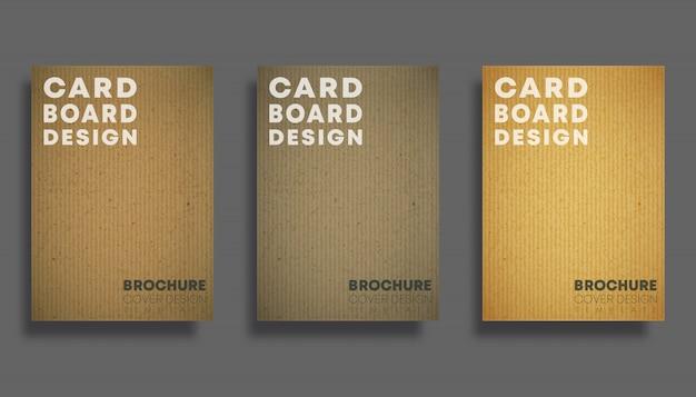 Zestaw okładek z kartonową teksturą Premium Wektorów