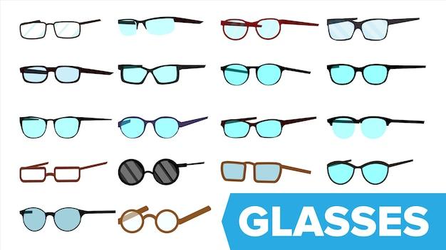 Zestaw Okularów Premium Wektorów