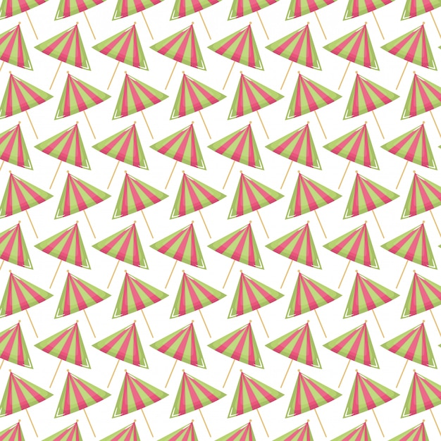 Zestaw parasole koktajlowe wzór Darmowych Wektorów