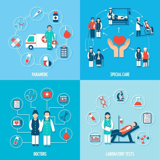 Zestaw personelu medycznego Darmowych Wektorów