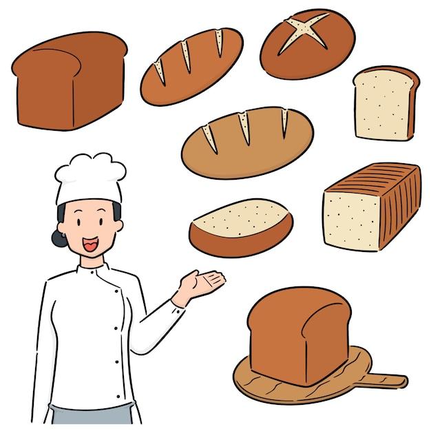 Zestaw piekarza Premium Wektorów