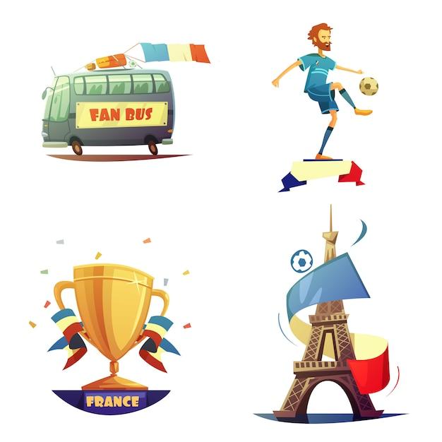 Zestaw piłkarskich mistrzostw Darmowych Wektorów