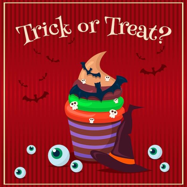 Zestaw plakatów halloween. ilustracja. Premium Wektorów