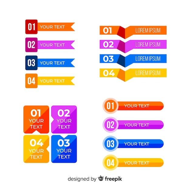 Zestaw płaski infografikę elementu Darmowych Wektorów