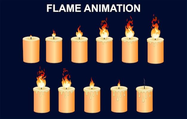 Zestaw Płonących świec Darmowych Wektorów