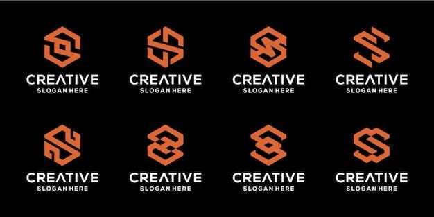 Zestaw Początkowych Abstrakcyjnych Ikon S Na Biznesowy Luksus I Elegancję Premium Wektorów