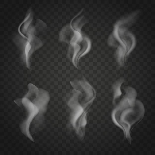 Zestaw Półprzezroczystego Dymu Premium Wektorów
