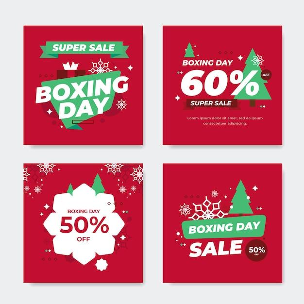 Zestaw Postów Na Instagramie Z Okazji świąt Bożego Narodzenia Darmowych Wektorów