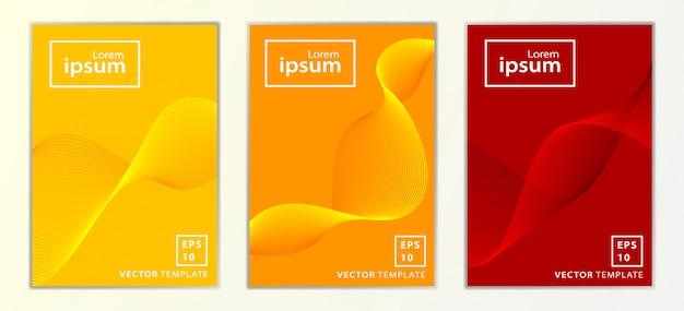 Zestaw Projekt Okładki Broszury Minimalnej Firmy Premium Wektorów