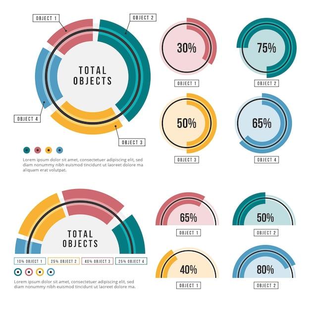 Zestaw Promieniowy Infographic Darmowych Wektorów