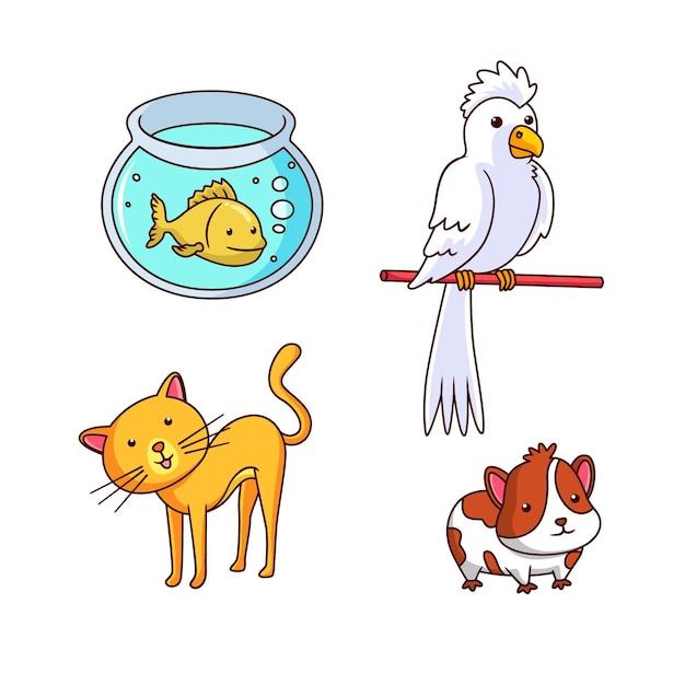 Zestaw Różnych Koncepcji Zwierzęta Darmowych Wektorów