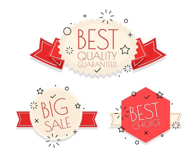 Zestaw Różnych Logo Rocznika. Kolekcja Banerów Zakupy Wektor Premium Wektorów