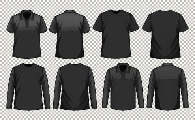 Zestaw Różnych Typów Koszul W Tym Samym Kolorze Darmowych Wektorów