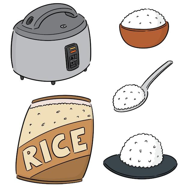 Zestaw ryżu Premium Wektorów