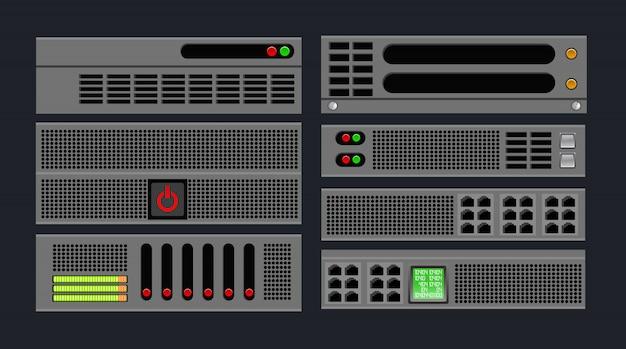 Zestaw Serwera Komputerowego Premium Wektorów
