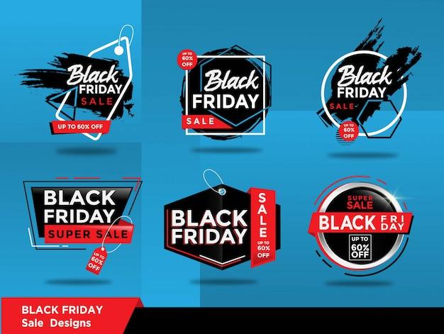Zestaw Sprzedażowy Czarny Piątek Premium Wektorów