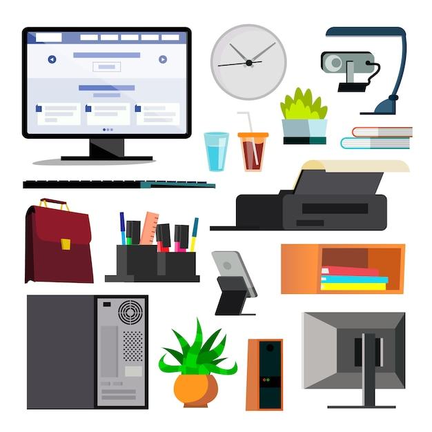 Zestaw sprzętu biurowego Premium Wektorów