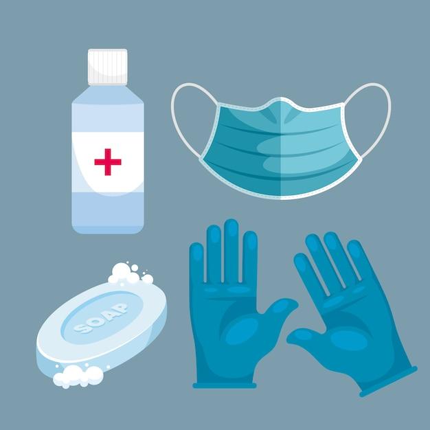 Zestaw Sprzętu Do Ochrony Przed Wirusami Darmowych Wektorów