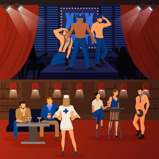 Zestaw Striptizów Klubowych Darmowych Wektorów