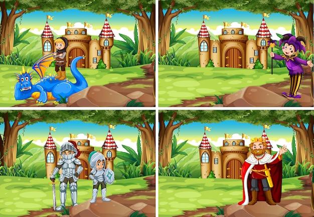 Zestaw świata fantasy Darmowych Wektorów