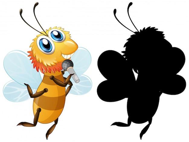 Zestaw Sylwetka Pszczoły Darmowych Wektorów
