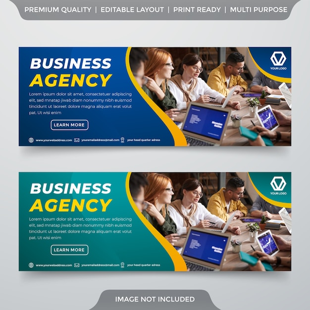 Zestaw Szablonów Banerów Biznesowych Premium Wektorów