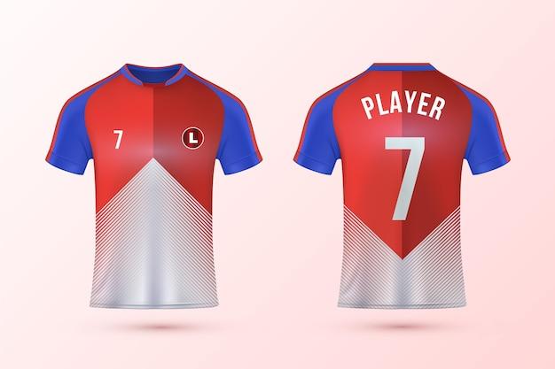 Zestaw Szablonów Koszulek Piłkarskich Darmowych Wektorów